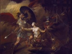 Satan, Sin and Death (A Scene from Milton's 'Paradise Lost') by William Hogarth