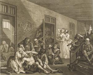 Scene in Bedlam Asylum by William Hogarth