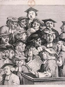 Scholars at a Lecture, 1736 by William Hogarth
