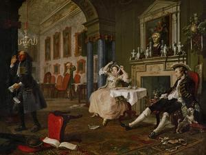 Shortly after the Wedding, from Marriage a La Mode, a Series of Six Satyrical Paintings by William Hogarth