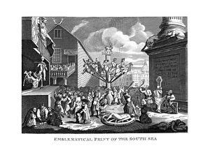 South Sea Bubble, 1721 by William Hogarth
