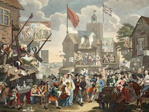 Southwark Fair, 1733, Illustration from 'Hogarth Restored: the Whole Works of the Celebrated… by William Hogarth