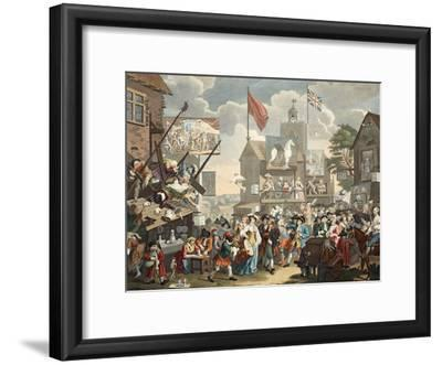 Southwark Fair, 1733, Illustration from 'Hogarth Restored: the Whole Works of the Celebrated…
