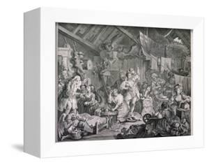 Strolling Actresses Dressing in a Barn, 1738 by William Hogarth