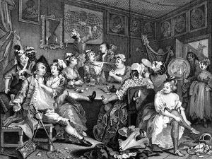 Tavern Scene from the Rake's Progress, 1735 by William Hogarth