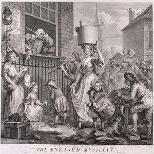 The Enraged Musician, 1741 by William Hogarth