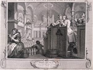 The Industrious Prentice Performing the Duty of a Christian, from Industry and Idleness 1747 by William Hogarth