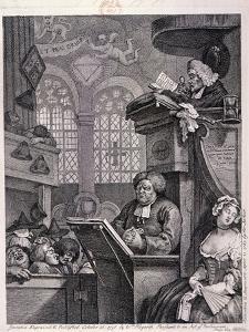 The Sleeping Congregation, 1762 by William Hogarth