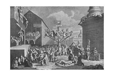 'The South Sea Bubble, from a print by William Hogarth', 1721, (1904)
