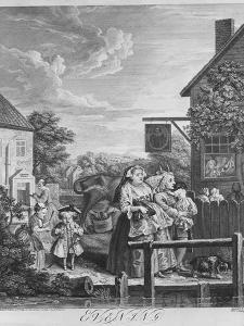 Times of the Day, Evening, 1738 by William Hogarth
