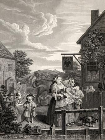 Times of the Day: Evening, from 'The Works of William Hogarth', Published 1833
