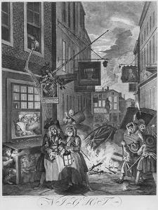Times of the Day, Night, 1738 by William Hogarth