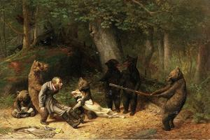 Making Game of the Hunter, 1880 by William Holbrook Beard