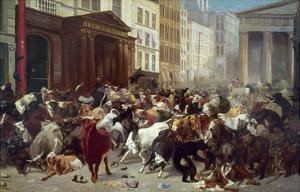 Wall Street: Bears & Bulls by William Holbrook Beard