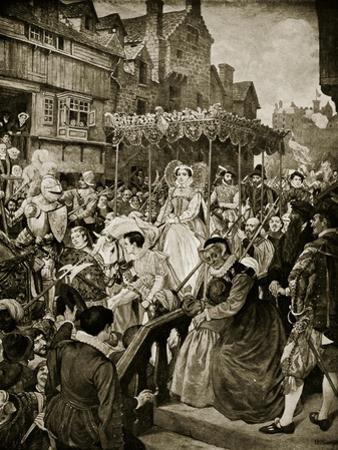 Mary Queen of Scots Enters Edinburgh, 1561 by William Hole