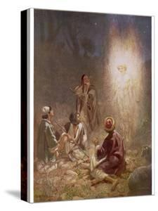 The Angel of the Lord Announces the Arrival of Jesus to the Shepherds by William Hole