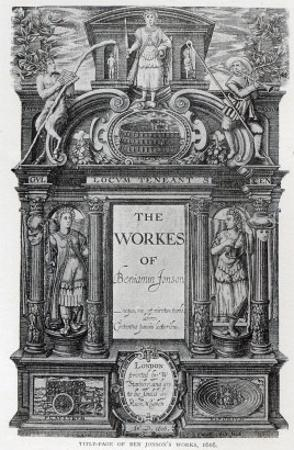 Title Page to 'The Works of Benjamin Jonson', 1616 by William Hole