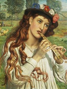 Amaryllis, or the Shepherdess by William Holman Hunt