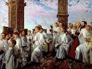 May Morning on Magdalen Tower by William Holman Hunt