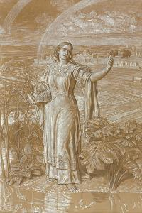 Pearl, (Metalpoint Heightened with White and Yellow and with Scratching) by William Holman Hunt
