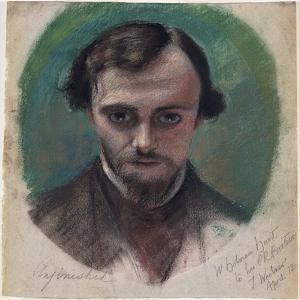 Portrait of Dante Gabriel Rossetti, 1853 by William Holman Hunt