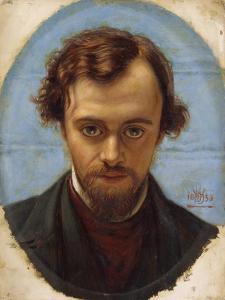 Portrait of Dante Gabriel Rossetti by William Holman Hunt