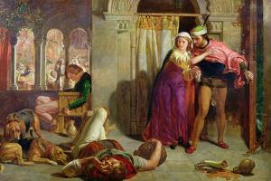 The Eve of St. Agnes, or the Flight of Madelaine and Porphyro During the Drunkenness Attending… by William Holman Hunt