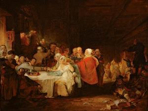 A Scotch Wedding, 1811 (Panel) by William Home Lizars