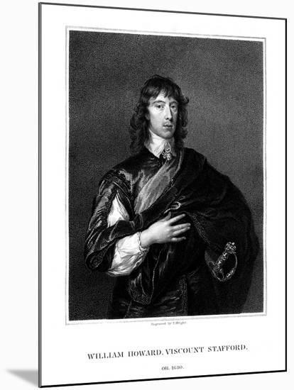 William Howard, 1st Viscount Stafford, Roman Catholic Martyr-T Wright-Mounted Premium Giclee Print