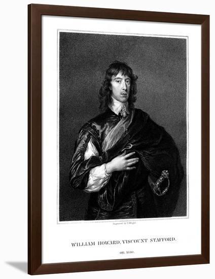 William Howard, 1st Viscount Stafford, Roman Catholic Martyr-T Wright-Framed Giclee Print