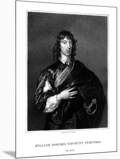 William Howard, 1st Viscount Stafford, Roman Catholic Martyr-T Wright-Mounted Giclee Print