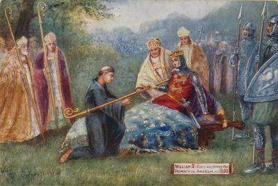 William II Conferring the Primacy on Anselm, 1093-Sydney Herbert-Giclee Print