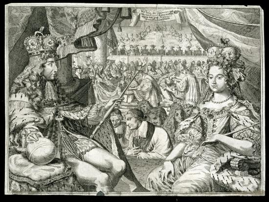 William III and Mary II, King and Queen of Great Britain and Ireland, c1689-Unknown-Giclee Print