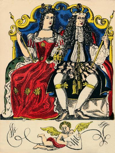 William III and Mary II, King and Queen of Great Britain and Ireland from 1688, (1932)-Rosalind Thornycroft-Giclee Print