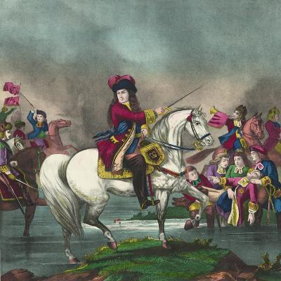 William III at the Battle of the Boyne, 1874--Giclee Print