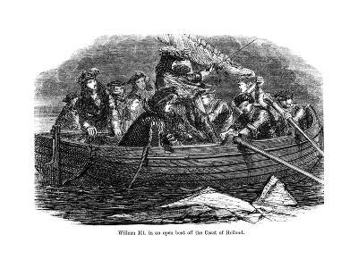 William III in an Open Boat Off the Coast of Holland--Giclee Print