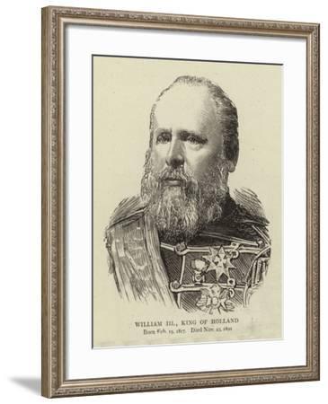 William III, King of Holland--Framed Giclee Print
