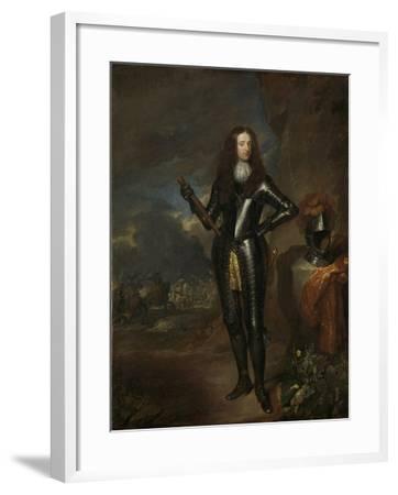 William III, Prince of Orange and Since, King of England-Caspar Netscher-Framed Art Print