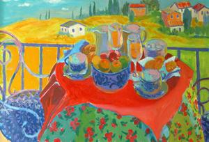 Tuscan Terrace by William Ireland