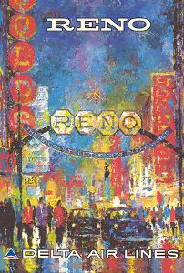 Reno, Nevada - The Biggest Little City in the World - Delta Air Lines by William (Jack) Laycox