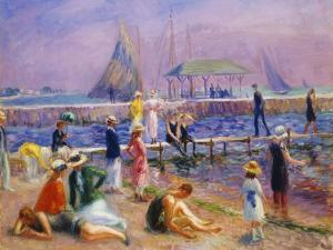 Town Pier - Blue Point, Long Island by William James Glackens
