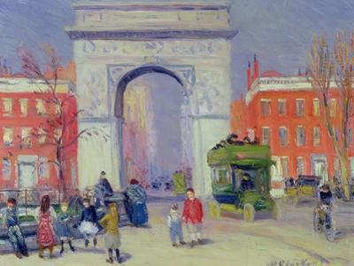 Washington Square Park, c.1908 by William James Glackens
