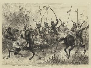 The Prince of Wales at Jummoo, Charge! Lancers of the Maharajah of Cashmere by William John Hennessy