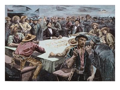 The Faro Players, 1891 (Coloured Engraving)