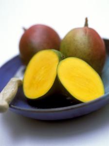 Mangos, One Cut Open by William Lingwood