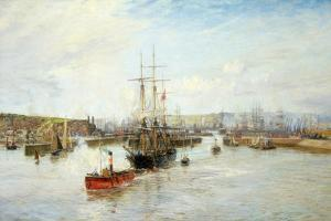 Entrance to Barry Dock, South Wales, 1897 by William Lionel Wyllie