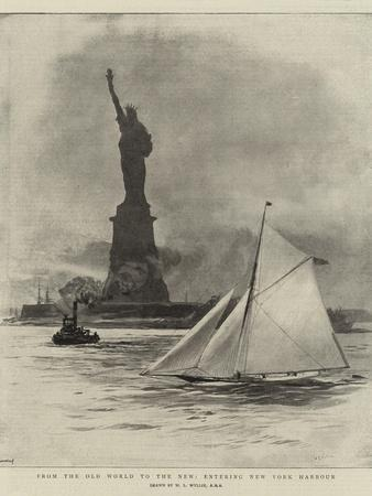 From the Old World to the New, Entering New York Harbour