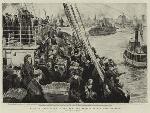 From the Old World to the New, the Arrival in New York Harbour by William Lionel Wyllie