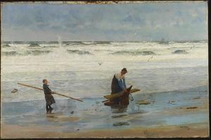 Gathering Driftwood, Holland, 1877 by William Lionel Wyllie