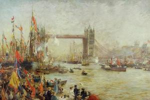 Opening of Tower Bridge, 1894 by William Lionel Wyllie